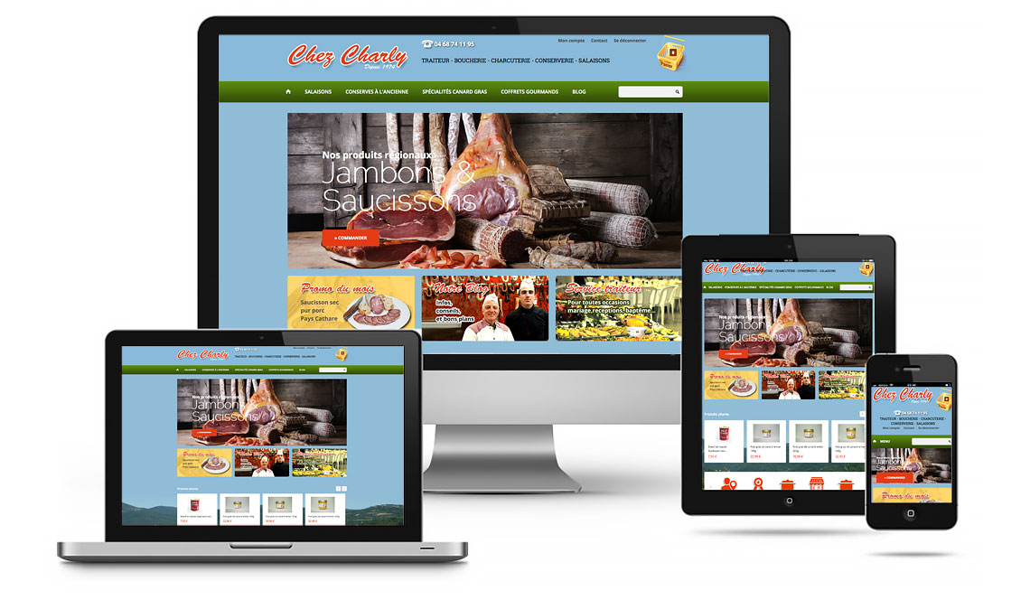 site e-commerce charcuterie Chez Charly