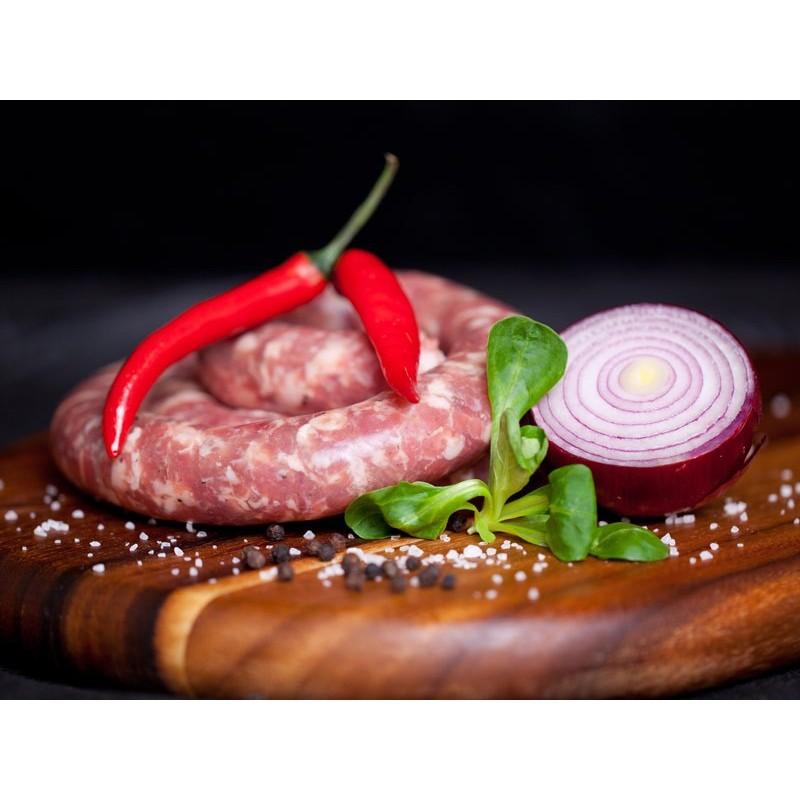 Saucisse fraîche au piment d'Espelette pur porc